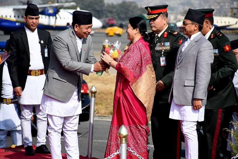Bidhya devi bhandari return from poland 3